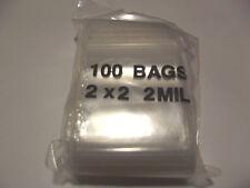 Reclosable Ziploc Bags. 2x2 100 Clear Bags.
