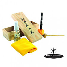 Japanese Samurai Katana Sword Maintenance Cleaning Oil Kit w/ Storage Box NIB