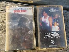 2 LOT Cassette Tape JOHN COUGAR Mellencamp - Scarecrow Nothin' Matters & What If