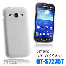 Clear Matte Gel Case For Samsung Galaxy ACE 3 S7275 T + SG TPU Jelly Soft Cover
