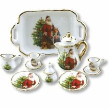 Dollhouse Miniature Christmas Tea Set by Reutter