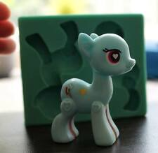 Silicone 3D LITTLE PONY Sugarcraft Cake Decorating fondant fimo mold