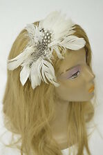 Bebe headband white feathers natural 156880
