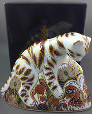 Royal Crown Derby BENGAL TIGER CUB Paperweight - 1st Quality Gold Stopper Boxed