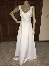 Eden Bridals Wedding Dress Size 10 Lightweight White Simple Elegant See details