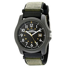 Timex Mens T42571 Expedition Camper Green Nylon Strap Watch New Uk