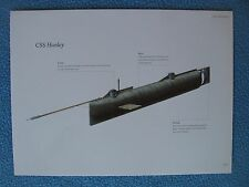 Civil War Confederate Warship Prints - CSS Hunley Submarine - SEE MY OTHER SHIPS