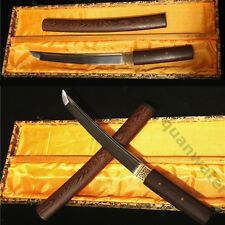 """20""""FULL TANG SWORD TANTO ROSEWOOD 1095 CARBON STEEL CLAY TEMPERED BLADE"""