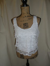 OLSENBOYE WHITE TIERED TANK SIZE M NEW WITH TAG