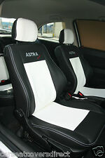 VAUXHALL OPEL ASTRA G BLACK & WHITE CAR SEAT COVERS