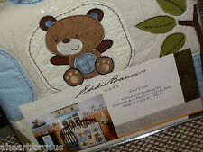 NEW EDDIE BAUER OWL CREEK CRIB BEDDING SET OUTDOOR TREES BEAR RACOON LEAVES BOY