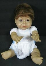 "Baby Doll SYNDEES Tricia Freckles Brown Hair Vinyl Face 10"" B165"