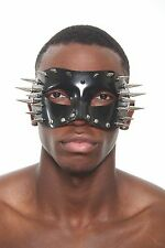 Exotic Black Long Spiked and Stud Mask Masquerade MardiGras Face Mask