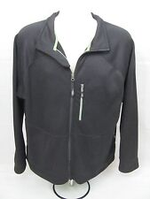 ORVIS TROUT BUM Black Full Zip Lightweight Jacket Mens Size L Made in Canada!