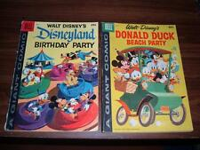 Dell Giants--Disneyland Birthday Party 1, Donald Duck Beach Party 5--2 comics