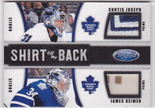 2011-12 Certified Shirt Off My Back Prime #4 Curtis Joseph/James Reimer 17/25