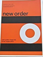 New Order  Mini Concert Poster Reprint  for Past Gig-Great Artwork 13 1/2x10