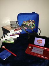 Nintendo 3DS System Bundle Games In Case Stylus Carrying Case Charger