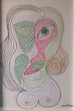 Raymond TRAMEAU Dessin Organique Visage Cubiste 1960 Pablo PICASSO Abstrait