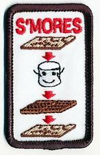 Girl Boy Cub HOW TO MAKE A SMORES Fun Patches Crests Badges SCOUT GUIDE campfire