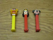 Lot of 3 PEZ DISPENSERs Mickey Mouse & Wonder Woman & Muppet w/Feet