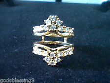 2CTW LCS* DIAMOND WEDDING ENGAGEMENT RING GUARD ENHANCER SIZE 10