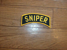 "U.S.MILITARY ARMY SNIPER ROCKER PATCH OVERSIZE 4"" INCHES X 1 1/4"" INCHES"
