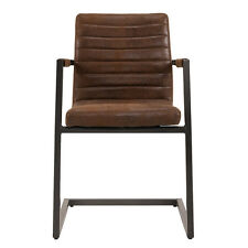 Schwingstuhl mit Armlehne Parzival 4er Set Stuhl in antik braun Eisen grau