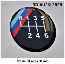 BMW M Performance Sport 3D-Logo-Aufkleber Muster-Gangschaltung für 6-Gang