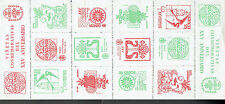 Spain 1974 Coin & Stamp Expo., Gracia, sheet of 12 large cinderella labels mint