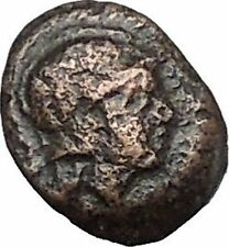 Neonteichos in Aeolis 200BC Ancient Greek Coin Athena Minerva Magic OWL i49656