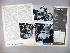 BSA Victor Special Motorcycle Review MAGAZINE ARTICLE - 1966