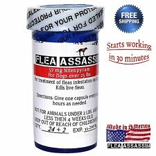 24 Capsules Rapid Control Flea Killer for Dogs 25-125 lbs