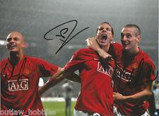 Manchester United Wes Brown Rio Ferdinand Nemanja Vidic Signed 8x11 Photo COA B