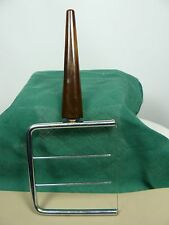 Bakelite Wire Cheese Cutter Mottled Brown Color 3 3/4 inch long handle