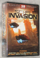 SCI-FI Invasion - 50 Science Fiction Films DVD Boite Set Nouveau & scellé
