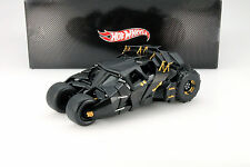 Tumbler Batman Begins Movie Car 2005 NERO 1:18 HotWheels