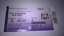 TICKET : RSC ANDERLECHT - KAA GENT 2010-2011 BUSINESS SEATS