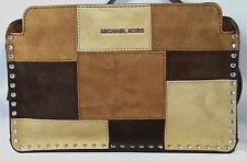 MICHAEL MICHAEL KORS ASTOR DARK CAMEL LARGE MESSENGER BAG