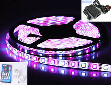 5M LED RGBW Colour Changing Strip Light Kit 12V SMD5050 LEDx60/M Waterproof PSU