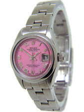 Rolex Lady's Datejust Pink Mother of Pearl Face Steel 26mm