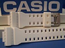Casio Watch Band GA-100 A-7,G-8900,GR-8900,GW-8900.Shiny White Rub G-Shock Strap