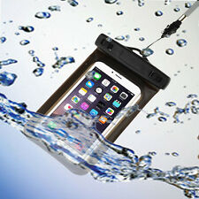 Black Waterproof Case Pouch Dry Bag with Neck Strap for Apple iPhone 6 Plus 5.5""