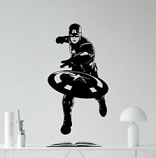Captain America Wall Decal Avengers Superhero Vinyl Sticker Decor Mural 59zzz