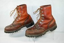 VTG IRISH SETTER Red Wing Moc Toe Leather Boots Brown Men's 8.5 D