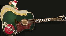 Hard Rock Cafe MEXICO 2003 Sombrero HAT Green Acoustic GUITAR PIN - HRC #20490