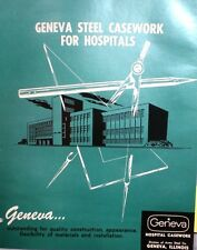 GENEVA Acme Steel Catalog Colorlith Counter Tops ASBESTOS Use in Hospitals! 1962