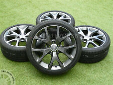 "GENUINE VAUXHALL CORSA D VXR ARTIC EDITION ANTRHACITE 18""INCH ALLOY WHEELS+TYRES"