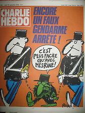 CHARLIE HEBDO N° FAUX GENDARME ARRETé DESSINS SATIRIQUES COUV REISER 1979