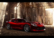 AMAZING DODGE SRT VIPER GTS NEW A3 CANVAS GICLEE ART PRINT POSTER FRAMED